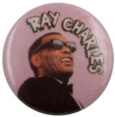 Ray Charles - 'Pink' Button Badge